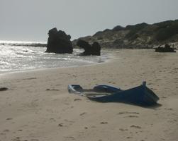 Bolonia Boat on Beach